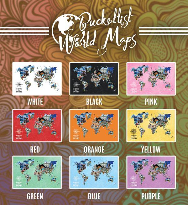 Bucketlist World Map Canvas Gift Ideas