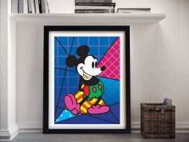 Buy a Pop Art Print of Mickey Mouse in Blue