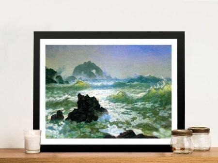 Buy Seal Rock Seascape Canvas Art by Bierstadt