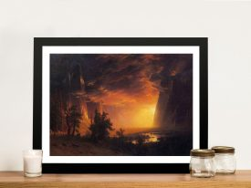 Sunrise in Yosemite Valley Framed Canvas Art