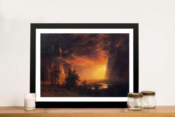 Sunrise in Yosemite Valley Framed Canvas Art