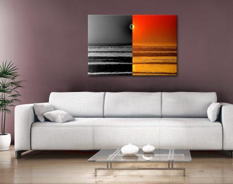 Sunset Reflections split effect Canvas Artwork