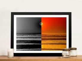 Sunset Reflections split effect Framed Wall Art