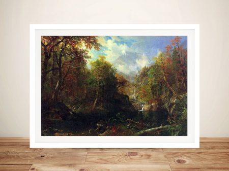 Buy The Emerald Pond Landscape Framed Art