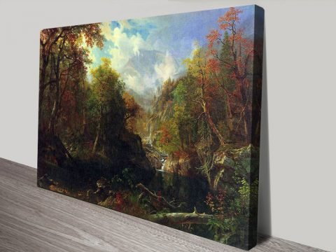 Buy The Emerald Pond Canvas Art by Bierstadt