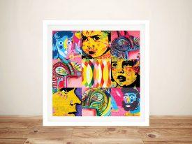 Graffiti Collage Wall of Faces Street Art Print