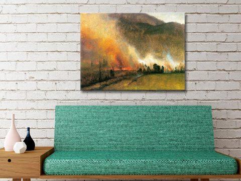 Buy Bierstadt's White Mountains Wall Art AU