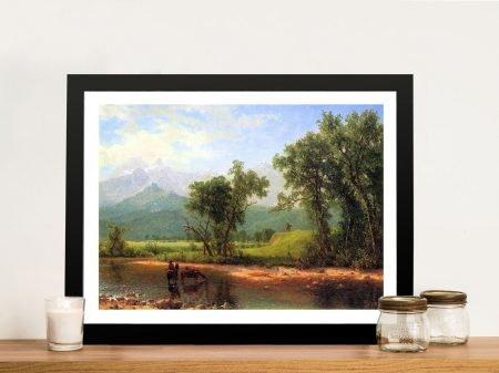 Wind River Mountains Bierstadt Landscape Art