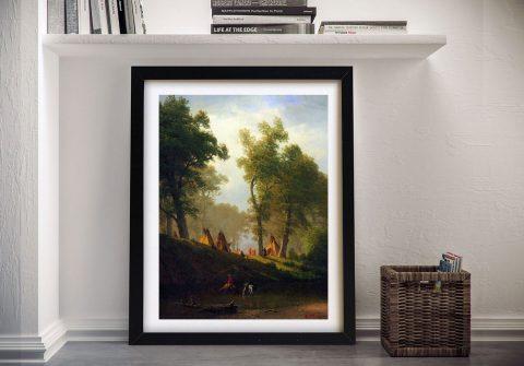 Buy Wolf River Kansas a Bierstadt Framed Print