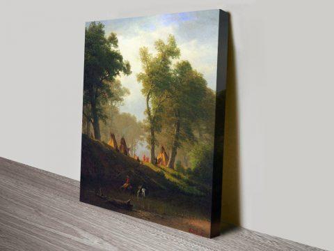 Buy Wolf River Kansas Cheap Canvas Art Online