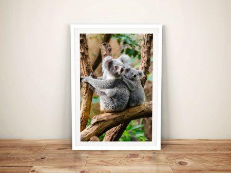 Buy Adorable Koala Mum & Baby Framed Wall Art