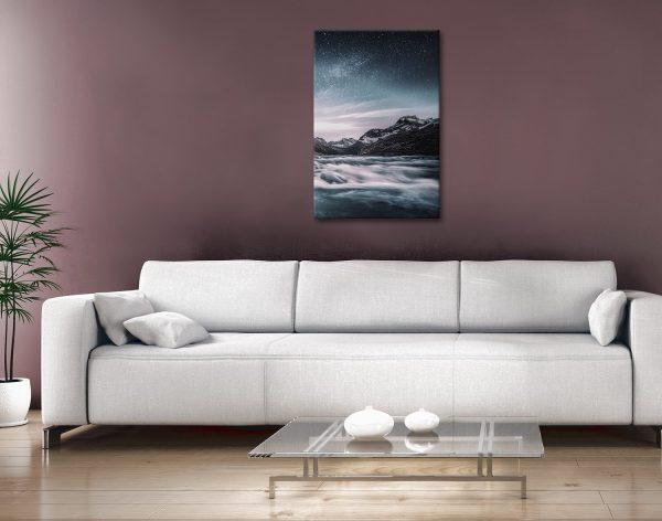 Buy Lunar Landscape Canvas Art Unique Gifts AU