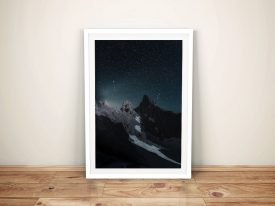 Buy Mountain in the Stars Framed Canvas Art