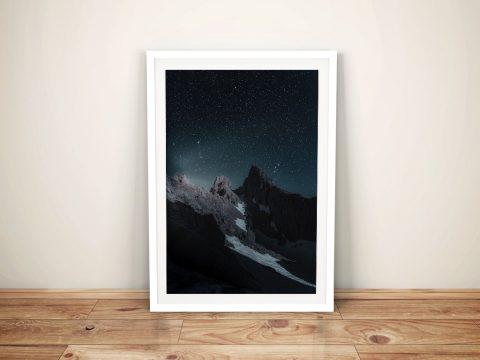 Buy Mountain in the Stars Framed Canvas Art