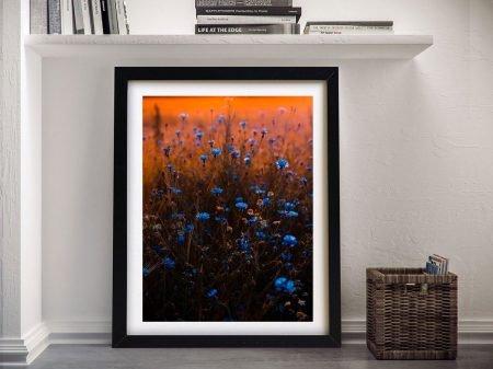 Buy Blue Flower Sunset Framed Canvas Artwork