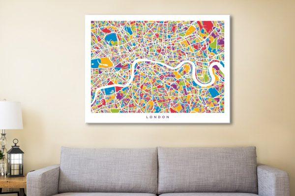 Buy London Street Map Art Gift Ideas Online