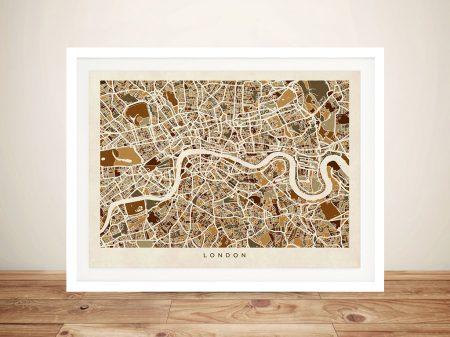 Buy a London Street Map Print by Michael Tompsett
