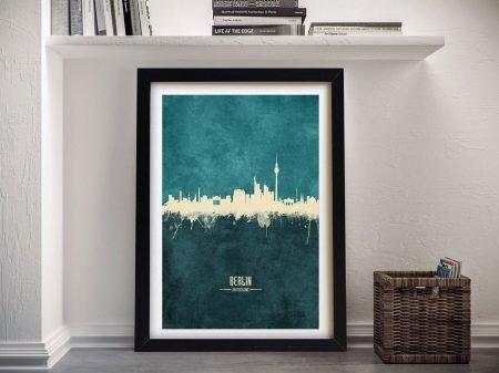 Berlin Two-Tone Skyline Tompsett Framed Art