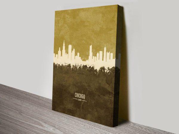 Buy Chicago Skyline Print Discount Prices AU