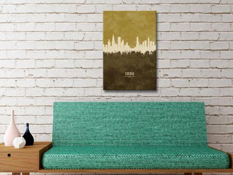 Buy a Chicago Skyline Print Amazing Gifts AU