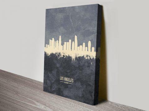 Buy LA Grey Two-Tone Skyline Canvas Wall Art