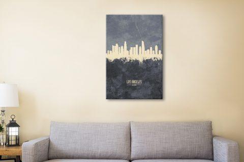 Buy LA Grey Skyline Art by Michael Tomsett AU