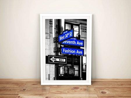 Buy Manhattan Signs Avenue Canvas Wall Art