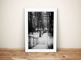 Buy a Canvas Print of Staircase Montmartre