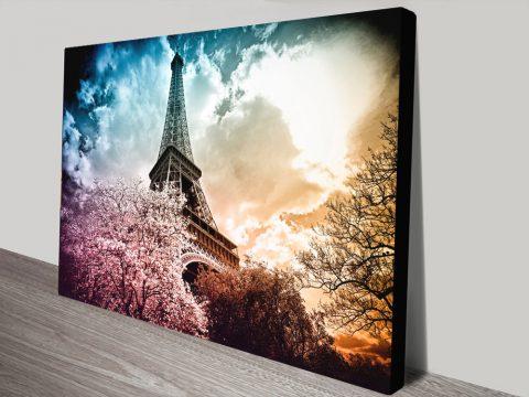Buy a Colourful Eiffel Print Affordable Art Online