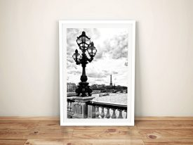 Buy Paris So Romantic Black & White Canvas Art