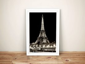 Buy a Sepia Framed Print of Vedettes de Paris