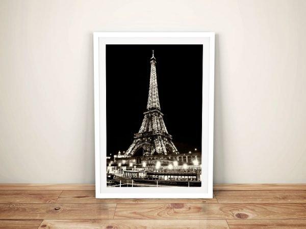 Buy a Sepia Framed Print of Vedettes de Paris