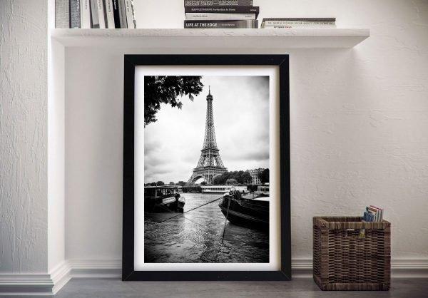 Buy a Framed Canvas Print of Paris sur Seine