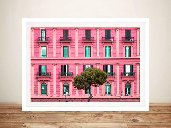 Buy Pink Facade Wall Art by Philippe Hugonnard