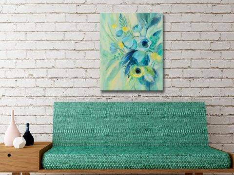 Buy Elegant Blue Floral II Artwork Gift Ideas Online
