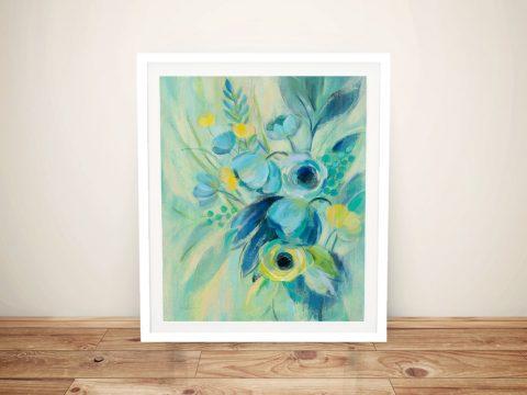 Buy Elegant Blue Floral II a Vassileva Canvas Print