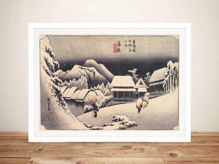 Buy a Print of Kanbara by Utagawa Hiroshige
