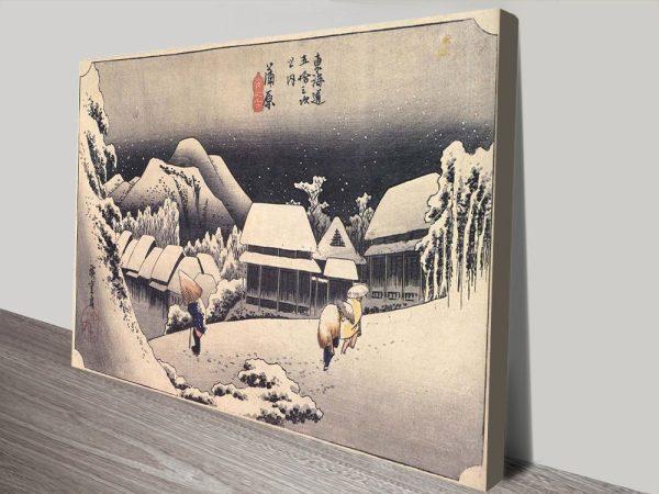 Buy Kanbara by Hiroshige Cheap Wall Art Online