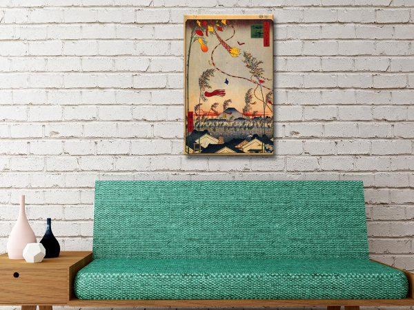 Buy Tanabata Festival Stretched Canvas Art AU