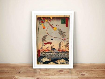 Buy Tanabata Festival Framed Japanese Art