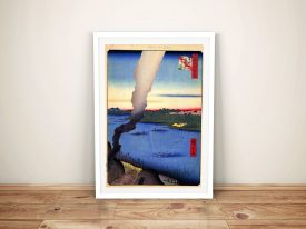Buy Tile Kilns a Canvas Print by Utagawa Hiroshige