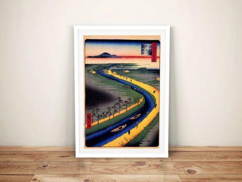 Buy Towboats Along the Yotsugi Canvas Wall Art