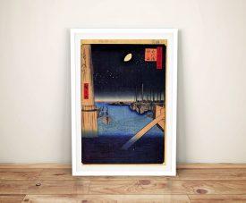 Buy a Print of Tsukudajima from Eitai Bridge