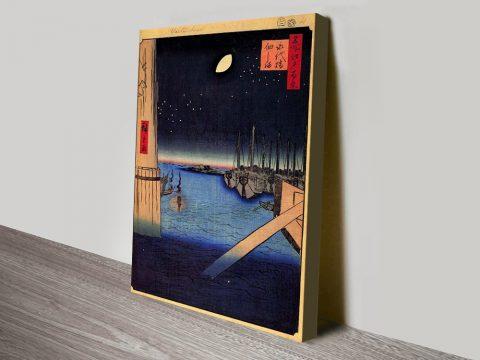 Buy Tsukudajima from Eitai Bridge Canvas Art AU