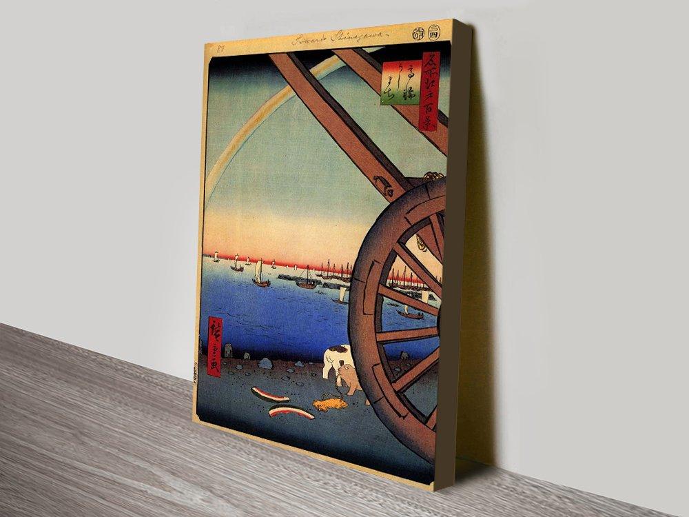 Buy Ushmachi Takanawa Hiroshige Cheap Wall Art AU