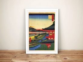 Buy Zojoji Pagoda Japanese Framed Wall Art
