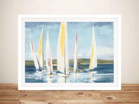 Buy Horizon with Red Nautical Canvas Art