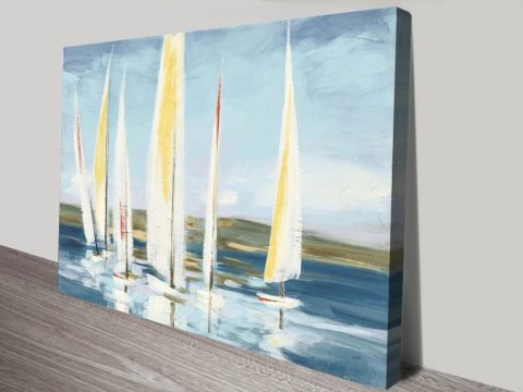 Buy Horizon with Red Cheap Canvas Wall Art AU