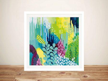 Buy Jewel Forest ll Framed Canvas Wall Art