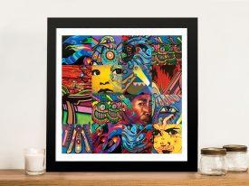 Kingfisher Kaos Street Art Framed Print